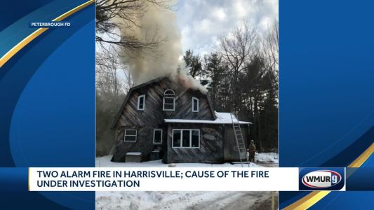 2-alarm fire badly damages Harrisville home