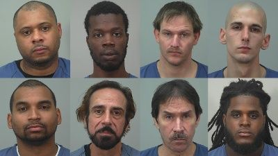 Police arrest 8 in domestic violence warrant sweep