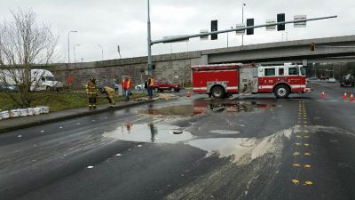 Sticky situation: Glue spill closes Redmond street