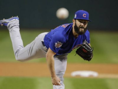 Arrieta deals, Cubs awaken, top Indians to even Series at 1