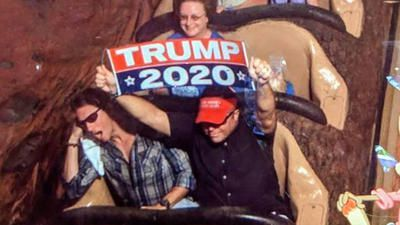 Disney World bans man who flashed 'Trump 2020' banner on Splash Mountain