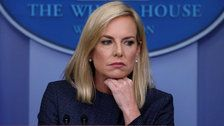 Protestors Outside Kirstjen Nielsen's House Play Audio Of Detained Migrant Children