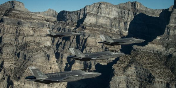 The US Air Force put the destructive power of nearly three dozen F-35 stealth fighters into the air in just 11 minutes