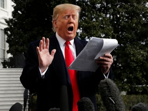 Cameras captured Trump's Ukraine talking points, handwritten in giant Sharpie letters, saying, 'I want nothing. I want no quid pro quo.'