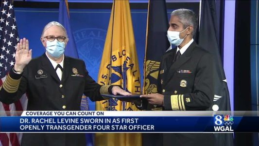 Dr. Rachel Levine becomes country's first openly transgender four-star officer