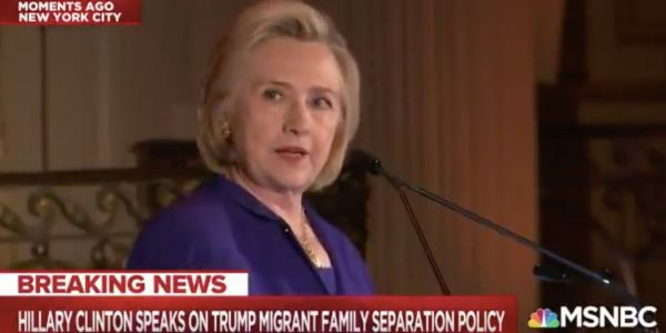 Hillary Clinton: Trump's blaming of 'zero tolerance' family-separation policy on Democrats is an 'outright lie'