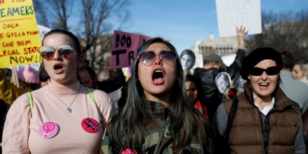 Women's March 2.0: Protesters flooded the streets to rally against Trump presidency on its one-year anniversary