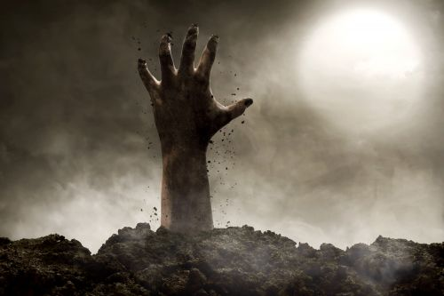 Residents alerted about power outage also warned to look out for zombies