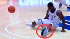 Zion Williamson's Nike Basketball Shoe Blows Out In The Most Brutal Way