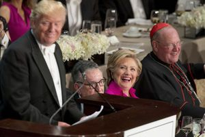Trump draws jeers at the Al Smith dinner