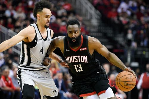 Rockets need ridiculous James Harden night to hold off Spurs
