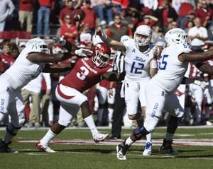 Noland, defense help Arkansas shut out Tulsa, 23-0