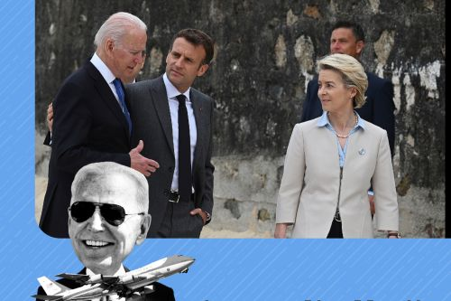 G-7 leaders fighting on 2 fronts