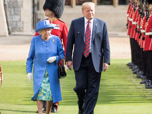The queen checked her watch while waiting for Donald Trump - and people can't get over the video