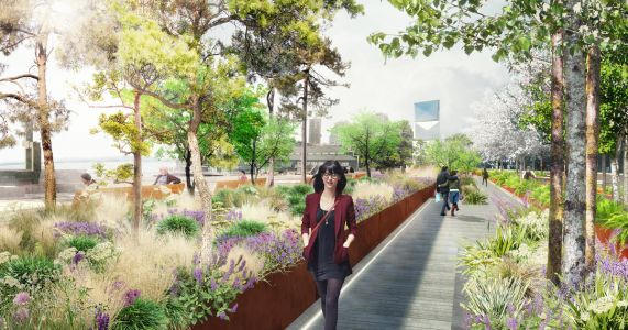 As the Viaduct tumbles, a dynamic, carefully designed living landscape waits to emerge