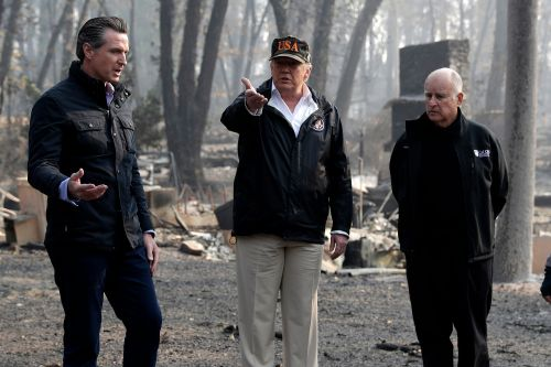 Trump visits areas devastated by wildfires in California