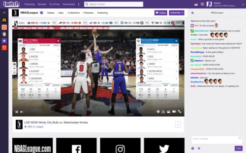 Twitch will launch NBA minor league game streaming on December 15 - with fan commentary