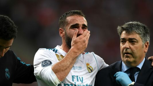 Champions League 2018 final: Real Madrid's Dani Carvajal limps out of final to prompt Spain fears