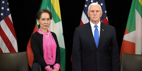 Mike Pence grilled Myanmar leader Suu Kyi directly to her face over the Rohingya crisis
