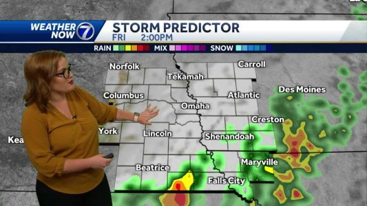 Storms will taper off this evening