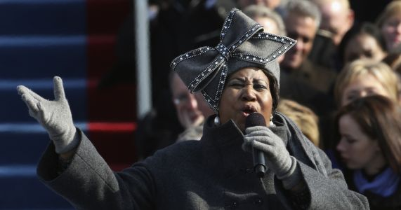 Aretha Franklin came to Washington to sing and for history