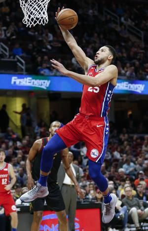 Ben Simmons has triple-double, 76ers rout Cavaliers 128-105