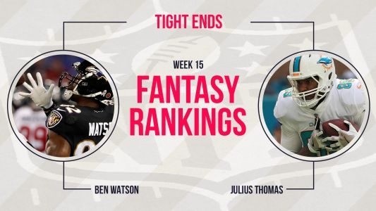 Fantasy Football Week 15 Rankings: Tight end
