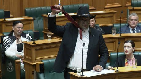 WATCH: Maori Party co-leader kicked out of New Zealand parliament after performing HAKA in protest over 'racist propaganda'
