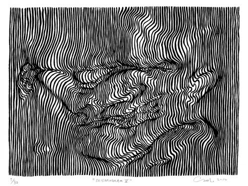 Using nothing but lines, this artist creates dizzying 3D drawings that will make you do a double take