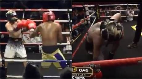 'How is this legal?' Fans bemused by latest boxing charade as ex-NBA player Odom obliterates pop star Aaron Carter