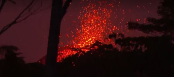 ​Workers plugging energy wells as lava from Kilauea volcano​ flows nearby​