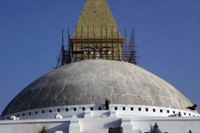 Image of Asia: Reconstruction of the Boudhanath Stupa