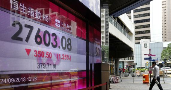 Asian shares fall on reports China-US trade talks put off