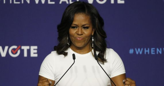 Michelle Obama drums up voter participation at Nevada rally
