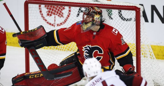 Giordano scores a pair, Flames rout Coyotes 7-1