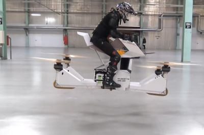 This hoverbike is almost as cool as a jetpack