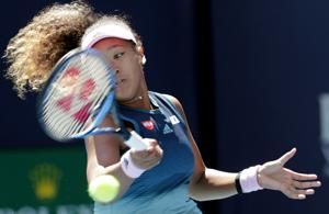 No. 1-ranked Naomi Osaka wins opening match at Miami Open