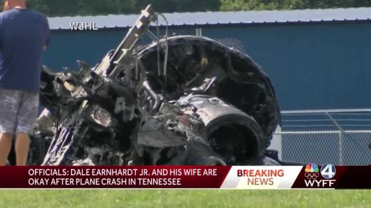 Plane carrying Dale Earnhardt Jr. and wife has crashed