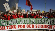 Los Angeles Teachers Begin Huge Strike