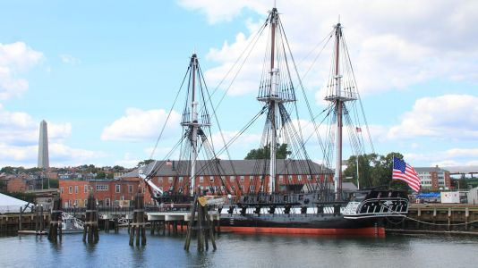 USS Constitution celebrating its 221st birthday