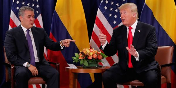 Trump and John Kelly joked about the suspected drone attack on Venezuela's Nicolas Maduro