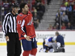 Capitals Wilson has suspension cut, scores goal in return