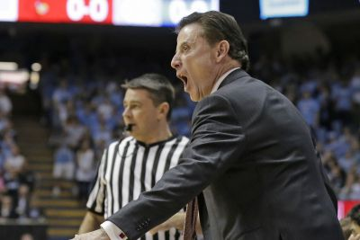 Rick Pitino completely loses it over 'coward' fan