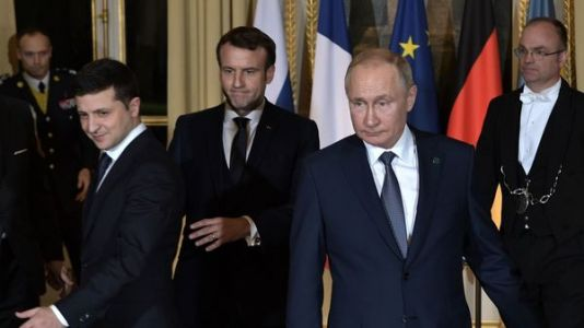 With Paris Peace Talks, Putin And Zelenskiy Meet For First Time