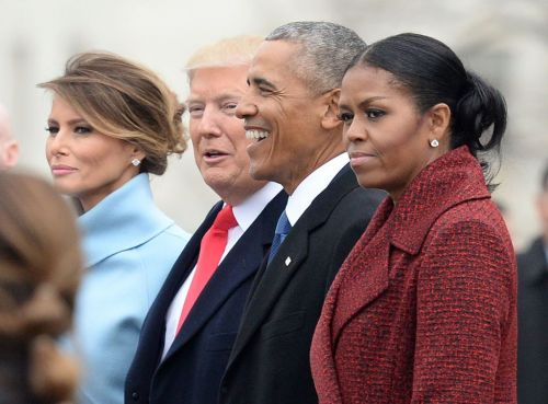 Michelle Obama 'stopped even trying to smile' at Trump inauguration