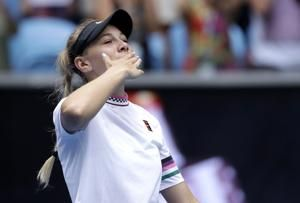 Kvitova outs Anisimova; Barty beats Sharapova in Australia