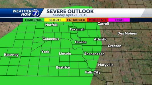 Back in the 80s Sunday afternoon, storm chances increase tonight