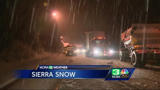 October snow in Serra prompts chain controls