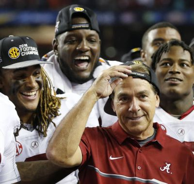 The Latest: Alabama still unanimous No. 1 in AP Top 25