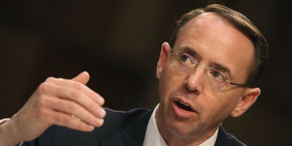Rod Rosenstein reportedly discussed invoking the 25th Amendment and wearing a wire to record his conversations with Trump